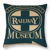 South Florida Railway Museum Throw Pillow