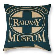 South Florida Railway Museum Throw Pillow