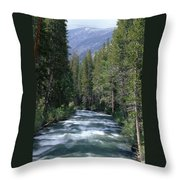 South Fork San Joaquin River - Kings Canyon National Park Throw Pillow