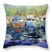 South Harbor Dawn Throw Pillow