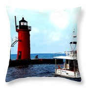 South Haven Michigan Lighthouse By Earl's Photography Throw Pillow