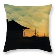 South Holland Train Station Throw Pillow