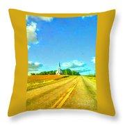 South Immanuel, On A Hill Far Away Throw Pillow