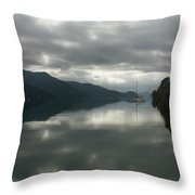 South Island Inlet Throw Pillow