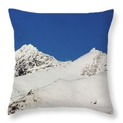 South Island White Peaks Throw Pillow
