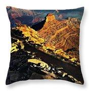 South Kaibab Trail - Grand Canyon Throw Pillow