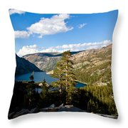 South Lake From Above Throw Pillow