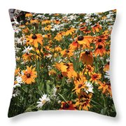 South Lake Tahoe Flowers Throw Pillow