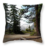 South Lake Tahoe Mountain Trail Throw Pillow