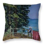 South Lake Tahoe Summer Throw Pillow