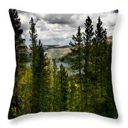 South Lake Through The Pines Throw Pillow