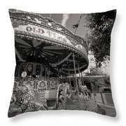 South London Carousel Throw Pillow