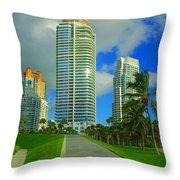 South Miami Beach Throw Pillow