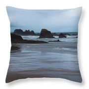 South Of Indian Beach Throw Pillow