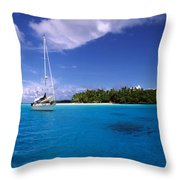 South Pacific Anchorage Throw Pillow
