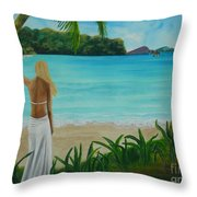 South Pacific Dreamin Throw Pillow
