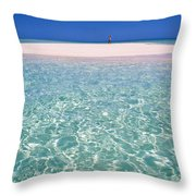 South Pacific Sandbar Throw Pillow