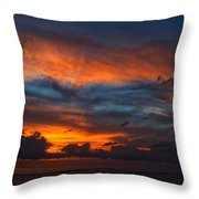 South Pacific Sunset Throw Pillow