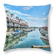 South Portland Harbor #2 Throw Pillow