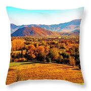 South Reno In Fall Throw Pillow