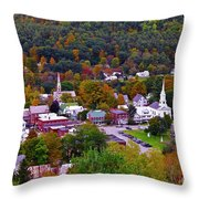 South Royalton Vermont Throw Pillow
