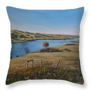 South Saskatchewan River Throw Pillow