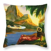 South Sea Isles Throw Pillow