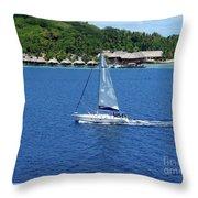 South Sea Sail Throw Pillow