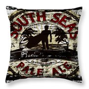 South Seas Pale Ale Sign Throw Pillow