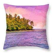 South Seas Sunset Throw Pillow