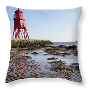 South Shields Groyne Throw Pillow