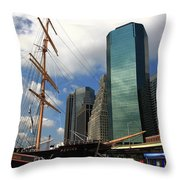 South Street Seaport - New York City Throw Pillow