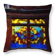 South Street Window Throw Pillow