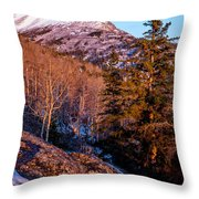 South Suicide Sunset Throw Pillow