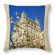 South Tower Exeter Cathedral Throw Pillow
