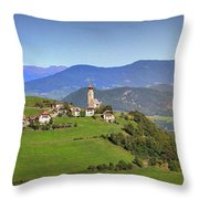 South Tyrolean Panorama Above Bolzano. Throw Pillow
