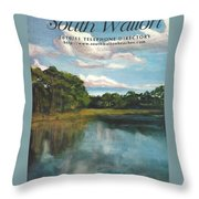 South Walton Telephone Directory Cover Art Throw Pillow
