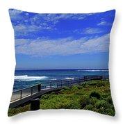 South West Coastline Throw Pillow
