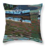 Southampton And Scubbys Bluff Fishing Fleet Throw Pillow