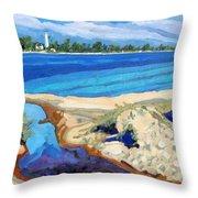 Southampton Dunes Throw Pillow