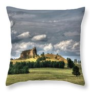 Belltower Butte Throw Pillow