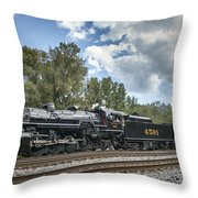 Southern 4501 At Railfest 2015 - 3 Throw Pillow