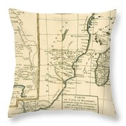 Southern Africa Throw Pillow