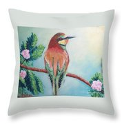 Southern Bee-eater Throw Pillow