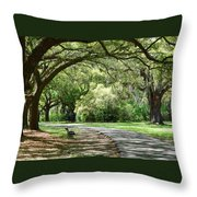 Southern Bench Throw Pillow