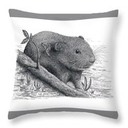 Southern Bog Lemming Throw Pillow