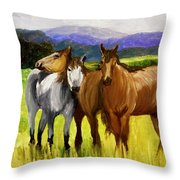 Southern Boys Throw Pillow