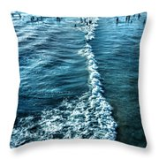 Southern California Beach Throw Pillow