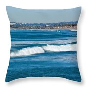 Southern California Coast Throw Pillow