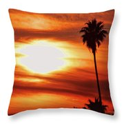 Southern California Sunset Throw Pillow
